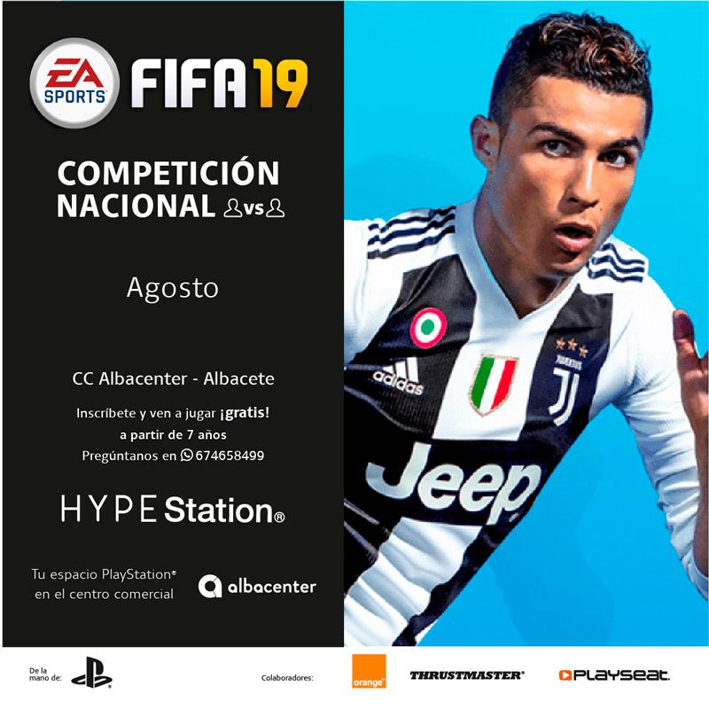 Competición nacional de FIFA 19 para PS4
